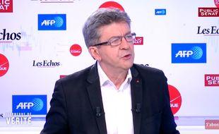 Jean-Luc Mélenchon sur Public Sénat, le 11 octobre 2016.