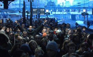 Grève à la SNCF en 1997 à Paris.