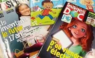 Des magazines Bayard Jeunesse consacré à l'énergie, en avril 2015.