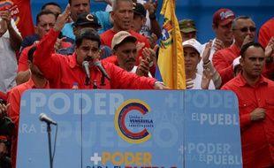 Nicolas Maduro à Caracas le 27 juillet lors d'un meeting en faveur de la Constituante.