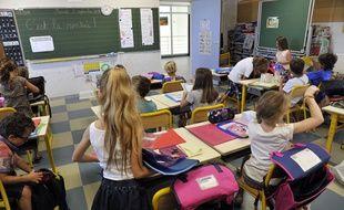 C'est la rentrée dans cette classe d'une école primaire de Nice.