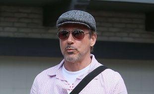 2c6ad610ef803 Robert Downey Jr arrives at Joel Silver s Memorial Day party Featuring  Robert  Downey Jr.