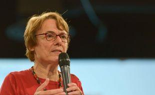 Martine Billard, animatrice du comité électoral national de La France insoumise le 14 mai 2017.
