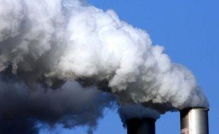 Pollution industrielle: illustration.