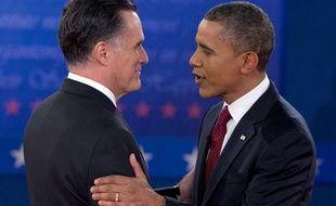 Mitt Romney et Barack Obama s'affrontaient mardi 16 novembre 2012 dans un deuxième débat télévisé, dans le cadre de la présidentielle américaine.