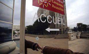 Illustration de l'hôtel de région Languedoc-Roussillon, le 20 novembre 2014 à Montpellier.