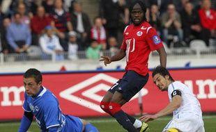 L'attaquant Lillois Gervinho, le 2 avril 2011, à Villeneuve d'Ascq, contre caen.