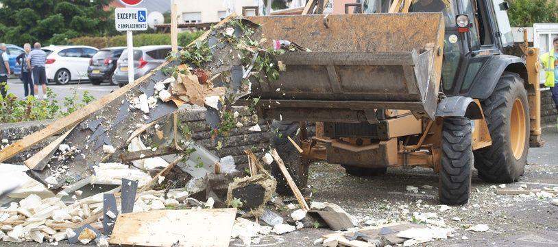 La commune luxembourgeoise de Bascharage a été gravement touchée par la tornade de vendredi soir.