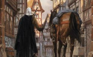 Illustration officielle de Thimothée Montaigne représentant le personnage de The Witcher