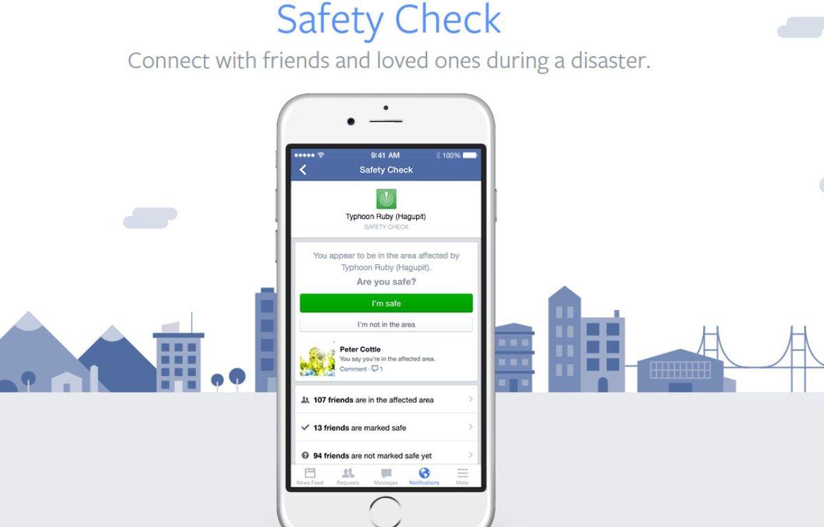 Le système Safety Check lancé ce soir à Paris par Facebook. – Facebook