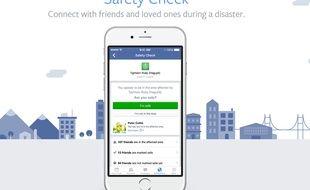 Le système Safety Check lancé ce soir à Paris par Facebook.