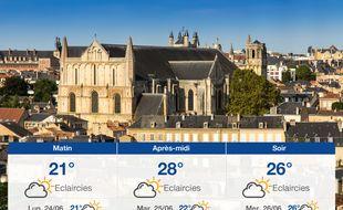Météo Poitiers: Prévisions du dimanche 23 juin 2019