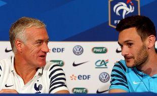Deschamps et Lloris en juin 2015.