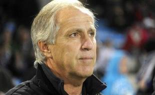 René Girard, l'entraîneur de Montpellier, le 19 novembre 2011, au Stade de la Mosson, contre Marseille.