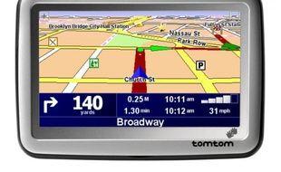 Un GPS (système de navigation assistée) de TomTom.
