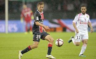 Clément Chantôme, le 6 août 2011, au Parc des Princes, contre Lorient.