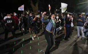 Des rassemblements à Santiago, au Chili, le 26 octobre 2020.