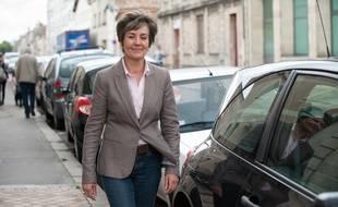 Bordeaux, 11 juin 2012. - Sandrine Doucet, alors candidate PS aux legislatives 2012 sur la 1ere circoncription de Gironde. - Photo : Sebastien Ortola