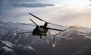 Un hélicoptère de l'armée américaine en Afghanistan en 2018.