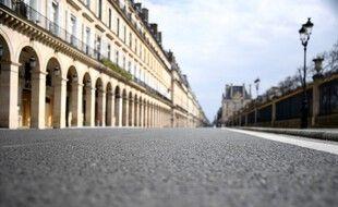 La rue de Rivoli à Paris pendant le premier confinement.