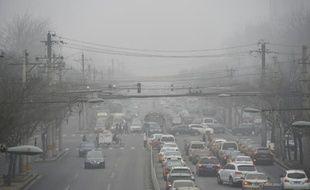 Illustration de la pollution de l'air à Pékin.
