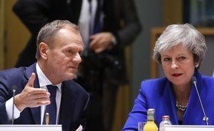 Le président du Conseil européen, Donald Tusk, et la Première ministre britannique Theresa May le 25 novembre 2018.