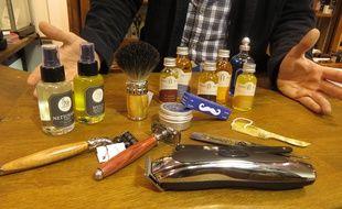 A nANTES LE 09 novembre 2014- Les produits et services pour s'occuper de sa barbe se multiplient à Nantes