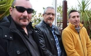 Thierry Gaulin, Vincent Quesnel et Thierry Puech, de l'association OVNI Languedoc.