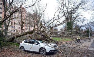 Illustration d'une tempête en Isère en décembre 2019
