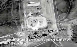 Vidéo des frappes aériennes