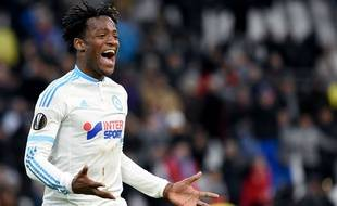 Michy Batshuayi fête son but contre Groningue le 26 novembre 2015.