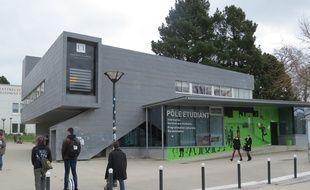 Nantes, le 3 mars 2016, le pôle étudiant sur le campus du Tertre.