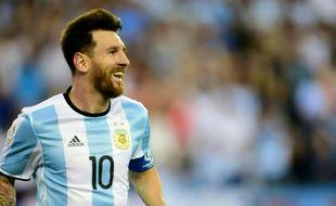 L'Argentin Lionel Messi après un but contre le Venezuela lors de la Copa America à Foxborough, Massachusetts, le 19 juin 2016