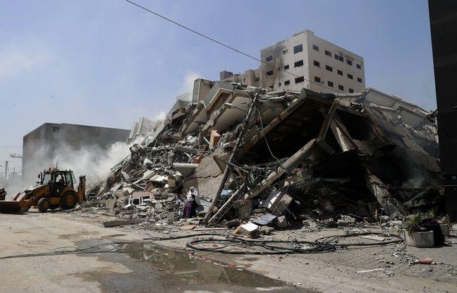 648x415 immeuble detruit gaza abritait notamment locaux ap