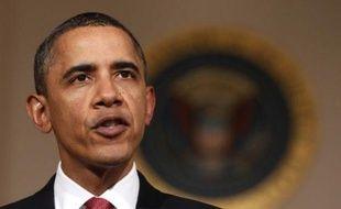 Le président Barack Obama dans une allocution télévisée, le 1er février 2011.