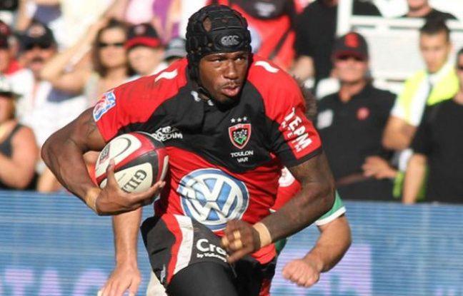 Le rugbyman du RC Toulon, Olivier Missoup, lors d'un match contre Biarritz au stade Mayol le 27 août 2011.