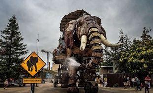 Le Grand éléphant des Machines de l'île, à Nantes.