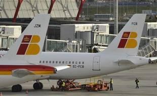 Des avions de la compagnie espagnole Iberia en février 2013.