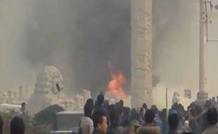 Les images d'une vidéo témoin de l'explosion place Tiananmen le 28 octobre à Pékin