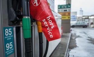 Une station-service en rupture de carburant (image d'illustration).
