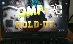 Illustration: Le film «Hold up» sur un écran d'ordinateur.