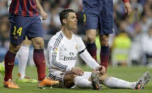 Cristiano Ronaldo lors du match entre le Real Madrid et le FC Barcelone le 23 mars 2014.