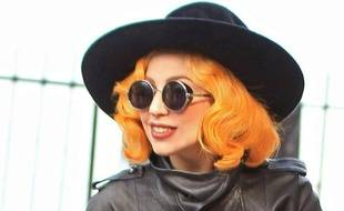 Lady Gaga à Bucarest en Roumanie, le 17 août 2012.