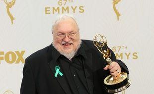 L'auteur George R.R. Martin aux 67ème Emmy Awards.
