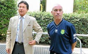 Le président Waldemar Kita et l'entraîneur Landry Chauvin ne semblent pas regarder dans la même direction.