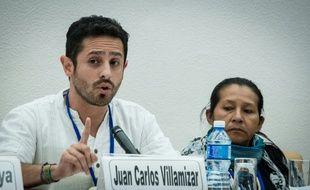 Juan Carlos Villamizar, de la la Commission de migration forcée, exil et réconciliation, le 2 novembre 2014 à La Havane à Cuba
