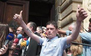 Daniel Legrand à la sortie du tribunale le 5 juin 2015 à Rennes