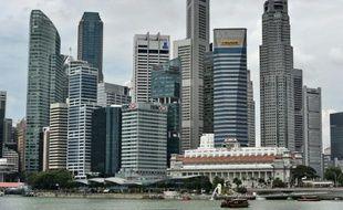 Vue de la baie de Singapour, le 3 mars 2015