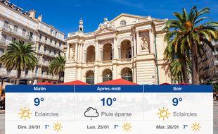 Météo Toulon: Prévisions du samedi 23 janvier 2021