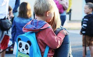 Rentrée scolaire, le 3 septembre 2018. Rentrée des classes dans une école maternelle près de Bordeaux (Gironde).